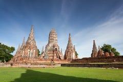 Wat Chaiwatthanaram, Ayuthaya Province, Thailand.  Royalty Free Stock Photography