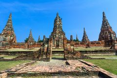 Wat Chaiwatthanaram, Ayuthaya Province, Thailand Royalty Free Stock Photos