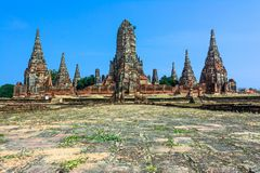 Wat Chaiwatthanaram, Ayuthaya Province, Thailand Stock Images