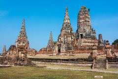 Wat Chaiwatthanaram, Ayuthaya Province, Thailand royalty free stock photo