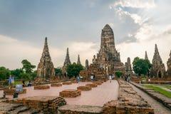 Wat Chaiwatthanaram in Ayuthaya, Thailand stockbilder