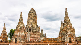 Wat Chaiwatthanaram, Ayutthaya Ταϊλάνδη Στοκ εικόνα με δικαίωμα ελεύθερης χρήσης