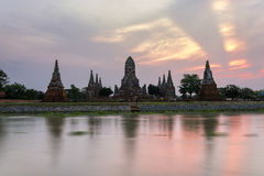 Wat Chaiwatthanaram in Ayutthaya Historical Park Stock Images