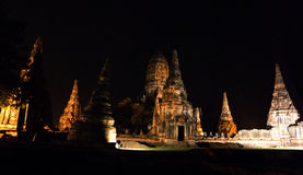 Wat Chaiwatthanaram in the Ayutthaya Historical Park. Ayutthaya, Thailand stock photography