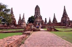 Wat Chaiwatthanaram Ayutthaya Tailandia Fotografia Stock Libera da Diritti