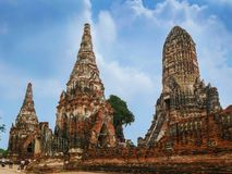 Wat Chaiwatthanaram, Ayutthaya, Thailand lizenzfreies stockfoto