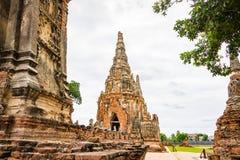 Wat Chaiwatthanaram Ayutthaya Thailand Royaltyfri Fotografi