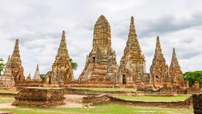 Wat Chaiwatthanaram Ayutthaya Thailand Arkivfoton