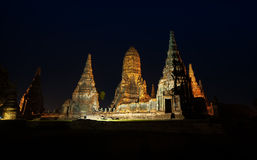 Wat Chaiwatthanaram in Ayutthya Fotografie Stock Libere da Diritti