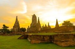 Wat chaiwatthanaram. Buddhist monasteries in thailand Ayutthaya Antiques Stock Photo