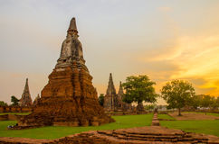 Wat chaiwatthanaram. Buddhist monasteries in thailand Ayutthaya Antiques Wat Chaiwatthanaram, one of the most imposing ancient Buddhist monasteries, was royalty free stock image