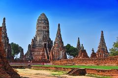 Wat Chaiwatthanaram, a Buddhist temple in Ayutthaya, Thailand. Wat Chaiwatthanaram, a Buddhist temple in the city of Ayutthaya Historical Park, Thailand Royalty Free Stock Photos