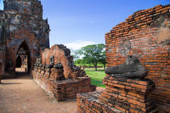 Wat Chaiwatthanaram, The Buddhist temple in the city of Ayutthay. A Historical Park, Thailand Royalty Free Stock Photos