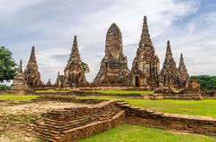 Wat Chaiwatthanaram in the city of Ayutthaya, Thailand. It is on. The Ayutthaya historical park covers the ruins of the old city of Ayutthaya, Thailand. The park Stock Images
