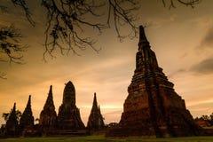 Wat Chaiwatthanaram del tempio Fotografie Stock