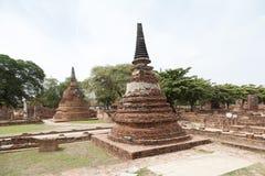 Wat Chaiwatthanaram del templo viejo de Ayuthaya Imagen de archivo libre de regalías