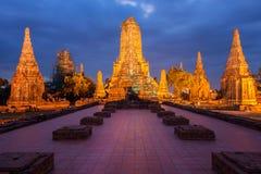 Wat Chaiwatthanaram del vecchio tempio di Ayuthaya Immagini Stock