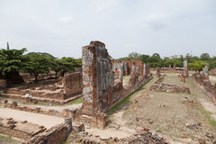 Wat Chaiwatthanaram do templo velho de Ayuthaya Foto de Stock