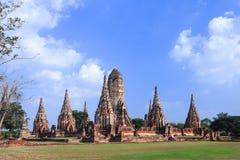 Wat Chaiwatthanaram, ein berühmter alter Tempel in Ayutthaya Lizenzfreies Stockfoto
