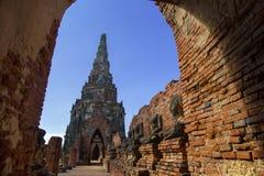 Wat Chaiwatthanaram, el templo budista en la ciudad de Ayutthay imagen de archivo