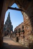 Wat Chaiwatthanaram, el templo budista en la ciudad de Ayutthay fotografía de archivo libre de regalías