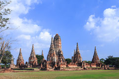 Wat Chaiwatthanaram, a famous ancient temple in Ayutthaya Royalty Free Stock Photo