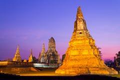 Wat Chaiwatthanaram-goud Royalty-vrije Stock Foto
