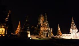 Wat Chaiwatthanaram in het Historische Park van Ayutthaya Stock Fotografie