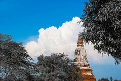 Wat Chaiwatthanaram, the historical park in Ayutthaya province o stock images