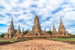 Wat Chaiwatthanaram historiska Ayutthaya parkerar, Thailand Royaltyfria Bilder