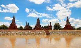 Wat Chaiwatthanaram, il tempio del regno lungo e dell'era gloriosa, Pagonda o stupa, Ayutthaya, Tailandia Immagini Stock