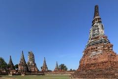 Wat Chaiwatthanaram jest Buddyjskim świątynią w mieście Ayutthaya Dziejowy park, Tajlandia, podróży pojęcie zdjęcia royalty free