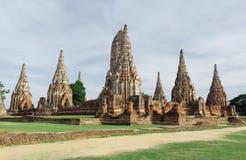 Wat Chaiwatthanaram jest Buddyjskim świątynią w mieście Ayutthay zdjęcia royalty free