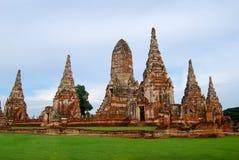 Wat Chaiwatthanaram jest Buddyjskim świątynią w mieście Ayutthaya Dziejowy park, Tajlandia zdjęcia stock