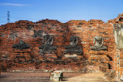 Wat Chaiwatthanaram, le temple bouddhiste dans la ville d'Ayutthay Photo stock