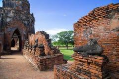 Wat Chaiwatthanaram, o templo budista na cidade de Ayutthay fotos de stock royalty free