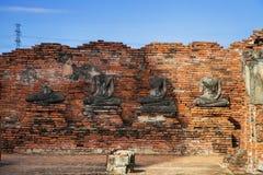 Wat Chaiwatthanaram, o templo budista na cidade de Ayutthay foto de stock