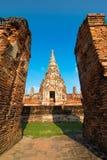 Wat Chaiwatthanaram o templo em Tailândia Fotos de Stock
