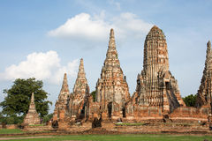 Wat Chaiwatthanaram. Chaiwatthanaram is one of the most spectacular strikes in Ayutthaya Royalty Free Stock Photo