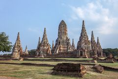 Wat Chaiwatthanaram is oude boeddhistische tempel, Stock Foto