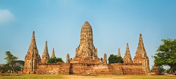 Wat Chaiwatthanaram. Panorama Royalty Free Stock Photo