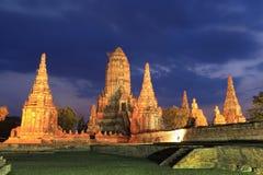 Wat Chaiwatthanaram. Sunset at Wat Chaiwatthanaram, Ayutthaya Thailand stock photos