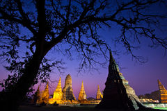 Wat Chaiwatthanaram in the sunset Royalty Free Stock Images