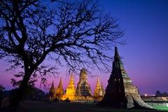 Wat Chaiwatthanaram in the sunset Stock Photography
