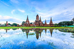 Wat Chaiwatthanaram in the sunset Royalty Free Stock Photography