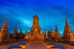 Wat Chaiwatthanaram (Tailandia antigua) Imagen de archivo libre de regalías