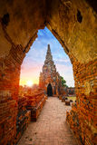 Wat Chaiwatthanaram-tempel in Ayuthaya, Thailand stock fotografie
