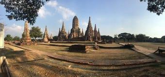 Wat Chaiwatthanaram-Tempelpanoramablick Lizenzfreies Stockbild