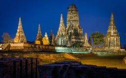 Wat Chaiwatthanaram Temple à Ayutthaya, Thaïlande Images stock