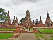 The Wat Chaiwatthanaram temple Ayutthaya Thailand stock photos